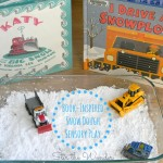 Snow Dough Sensory Bin inspired by the books Katy and the Big Snow & I Drive a Snowplow | 12 Months of Sensory Doughs at Stir the Wonder
