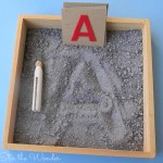 Moon Dust Writing Tray | A fun way for preschoolers to practice writing!