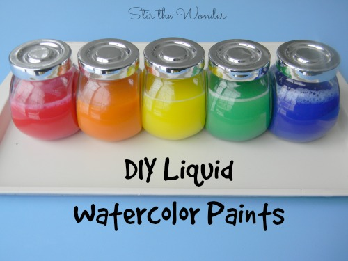 DIY Liquid Watercolor Paints - It's so easy to make a child could do it! | Stir the Wonder