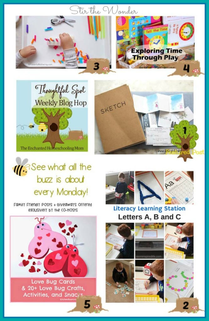 Thoughtful Spot Weekly Blog Hop  featuring posts from Little Girl Designs, Mom Inspired Life, Powerful Mothering, Kitchen Floor Crafts &  Suzie's Home Education Ideas | Stir the Wonder