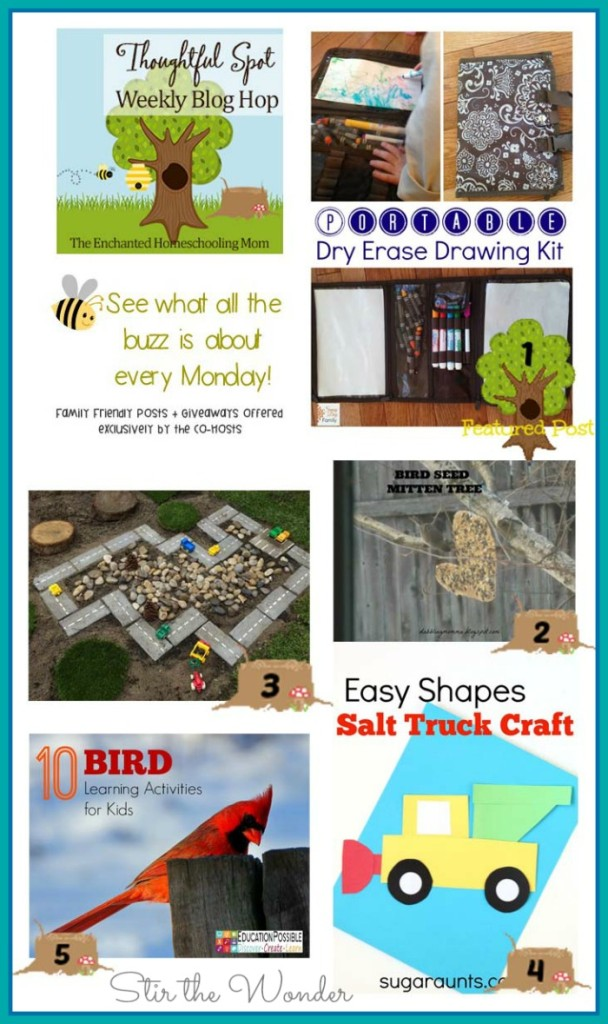 Thoughtful Spot Weekly Blog Hop #75 featuring posts from Sunny Day Family, Dabblingmomma, Sugar Aunts, Education Possible, and An Idea on Tuesday! | Stir the Wonder