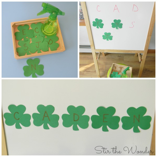 ABC Shamrock Fine Motor Matching Activity