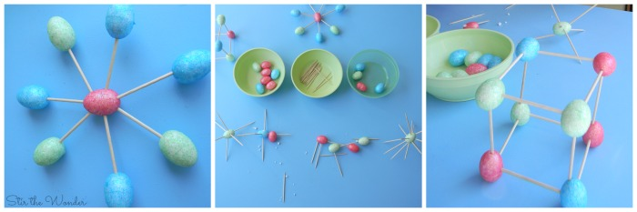 Easter Eggs and Toothpicks Fine Motor Sculptures | Stir the Wonder