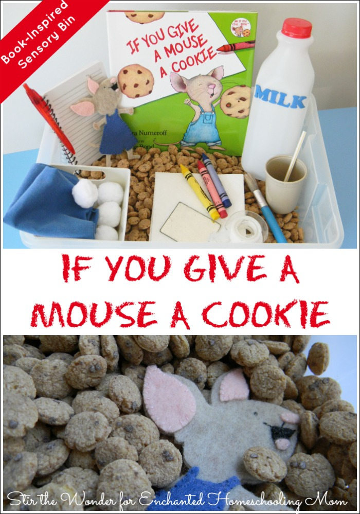 If You Give a Mouse a Cookie Sensory Bin