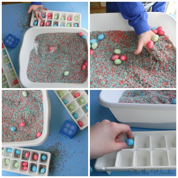 Playing a Easter Egg Hunt Sensory Counting Game! | Stir the Wonder