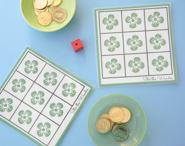 St. Patrick's Day Shamrock Grid Math Game | Stir the Wonder