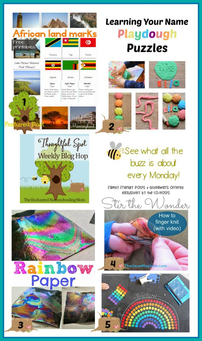 Thoughtful Spot Weekly Blog Hop #77 featuring Welcome to Mommyhood, Growing Book by Book, The Science Kiddo, The Usual Mayhem & Powerful Mothering! Plus a new GIVEAWAY for moms on the go!
