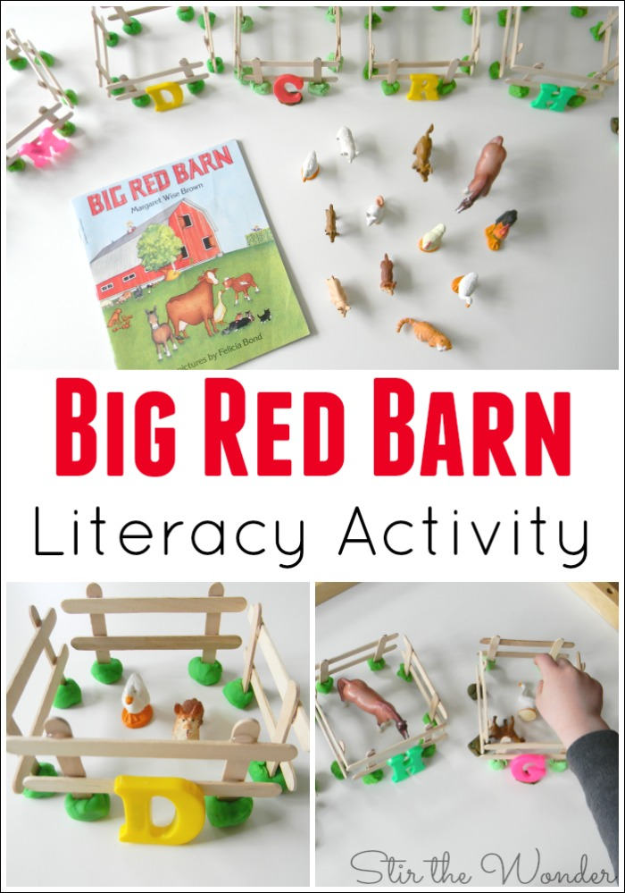 Big Red Barn Literacy Activity Matching Farm Animals To Their Letter Sounds A Fun