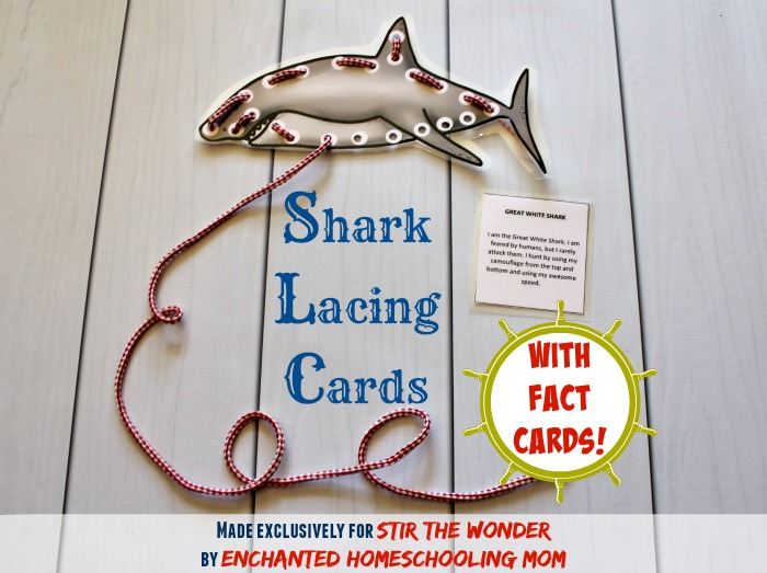 FREE Shark Lacing Cards