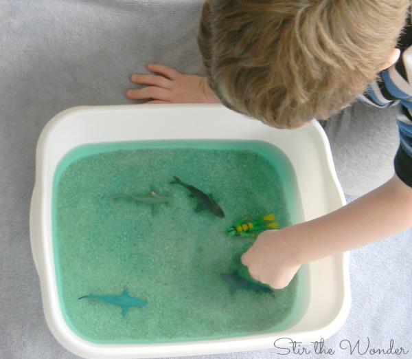 Shark Sensory Bin 2
