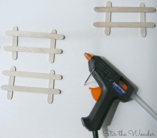 craft stick fences for play