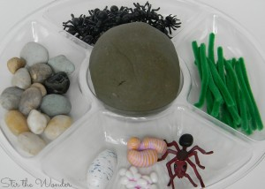 Play Dough Invitation with Ants