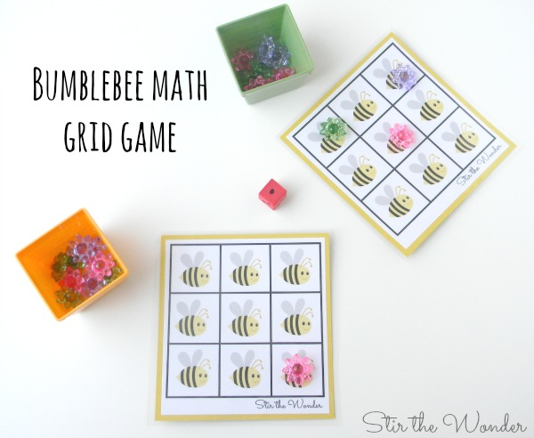 Bumblebee Math Grid Game