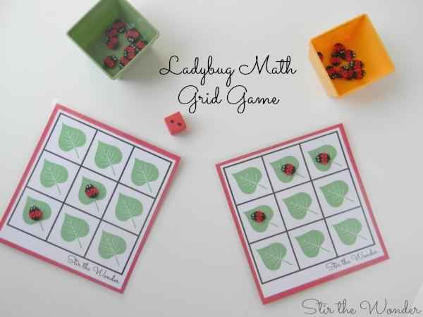 Ladybug Math Grid Game