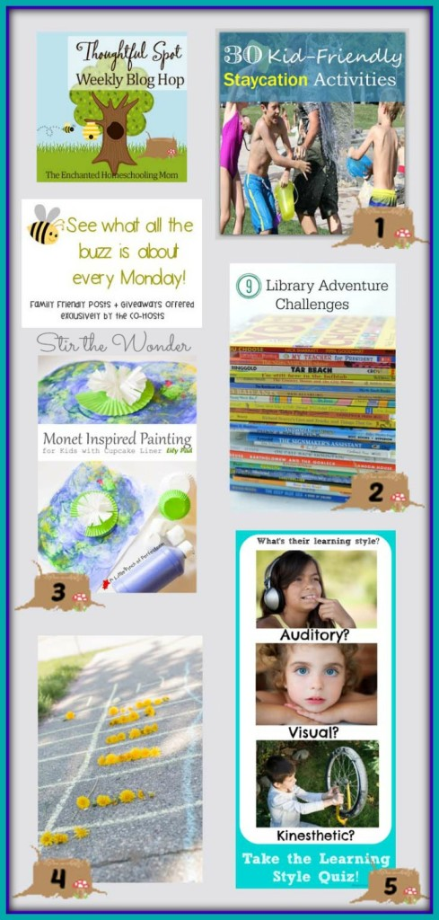 Thoughtful Spot Weekly Blog Hop #87 featuring posts from Kiddie Matters, Growing Book by Book, A Little Pinch of Perfect, Hands On: As We Grow & Hip Homeschooling!