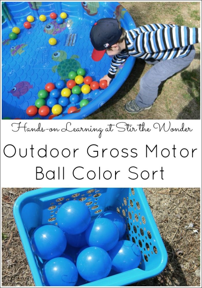 This Outdoor Gross Motor game can be played with one child or multiple children to learn or review anything! from colors to letters to sight words or other facts!