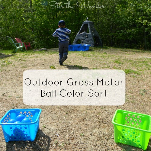 Outdoor Gross Motor Ball Color Sort Game