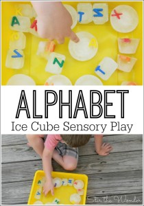 Alphabet Ice Cube Sensory Play is a simple summer activity for preschoolers and older kids!