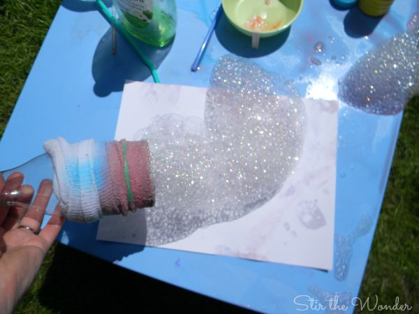 Bubble Snake Painting