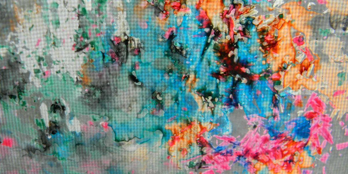 Melted Crayon Process Art F