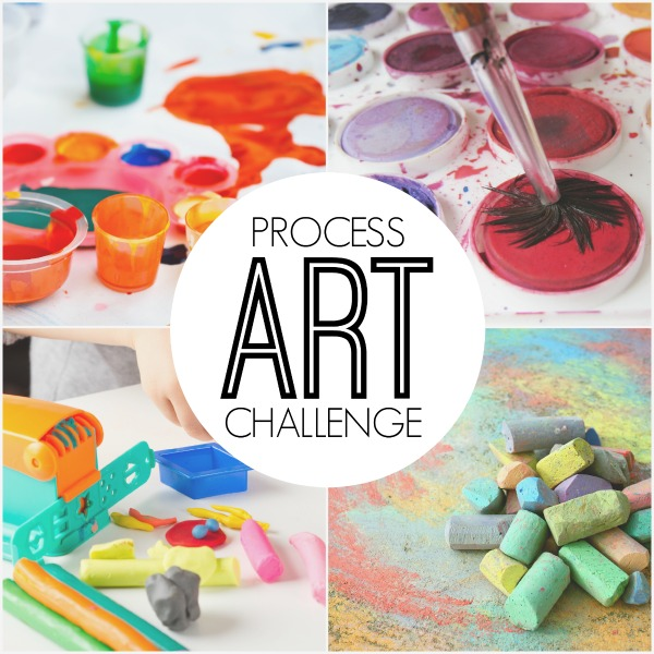 Process Art Challenge- providing more opportunities for our kids to explore the process of art using different techniques and mediums!
