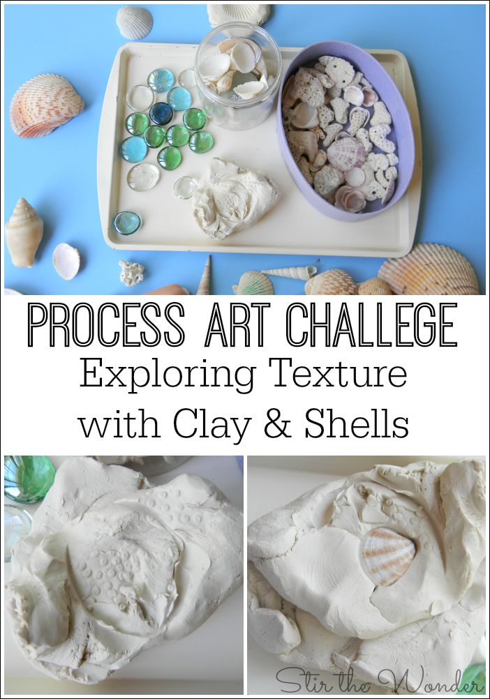Process Art Challenge: Exploring Texture with Clay & Shells!