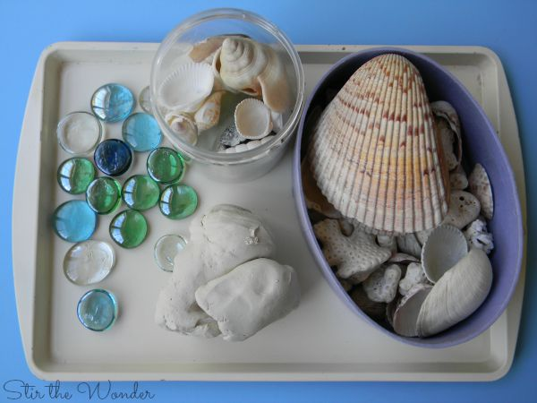 Process Art Challenge- Exploring Textures with Clay and Shells