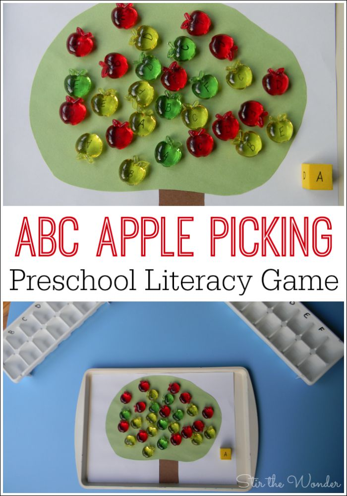 ABC Apple Picking is a fun preschool literacy game for reviewing letters!