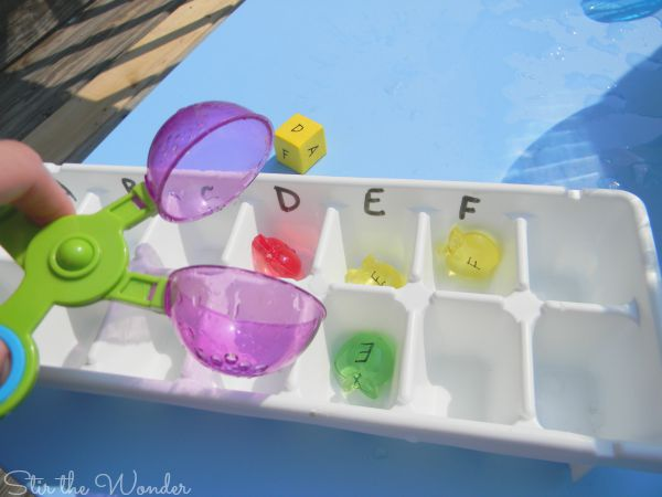 ABC Apple Sorting ice cube tray
