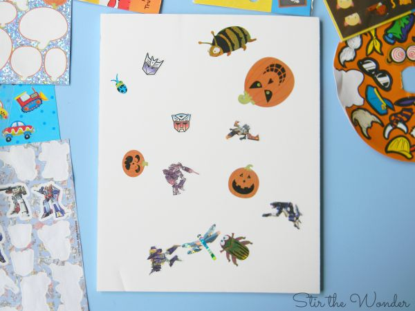 Process Art Challenge: Sticker Collage