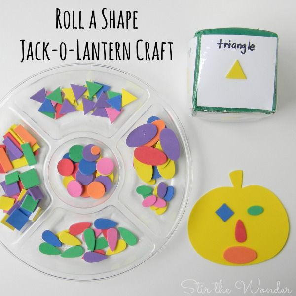 Roll a Shape Jack-o-Lantern Craft