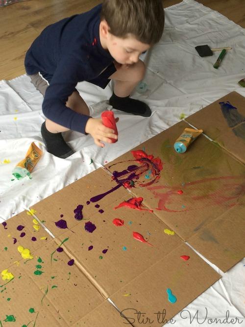 Pollock Process Art 3