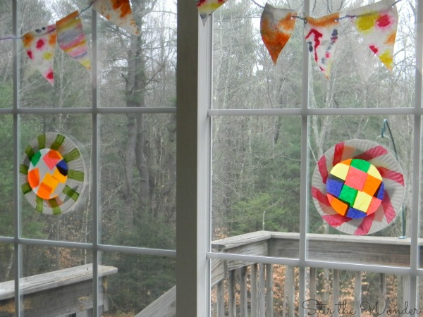 gingerbread house windows tissue paper suncatchers