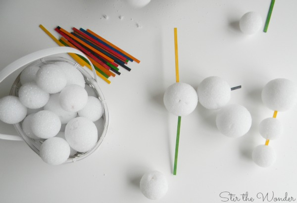 Snowball and Craft Stick Scupltures