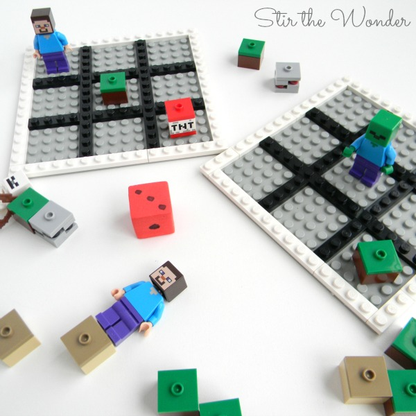 Minecraft LEGO Grid Game is a hands-on, fun game for preschoolers to practice early math skills.