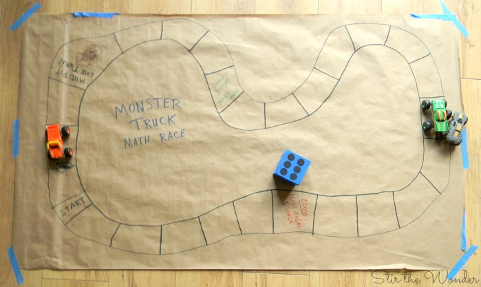 Monster Truck Race Math Game 4