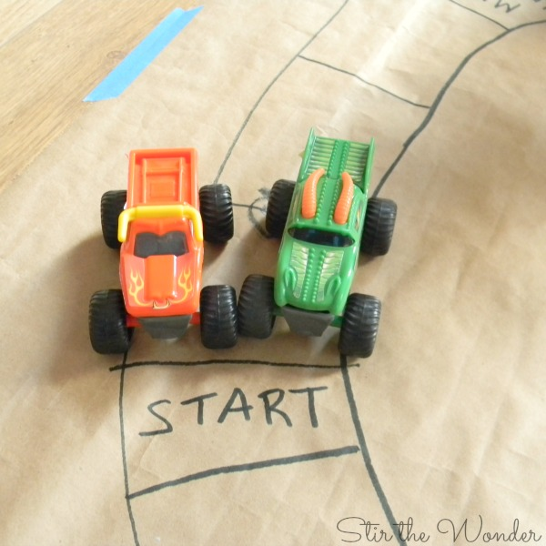 Starting Line Monster Truck Race Math Game