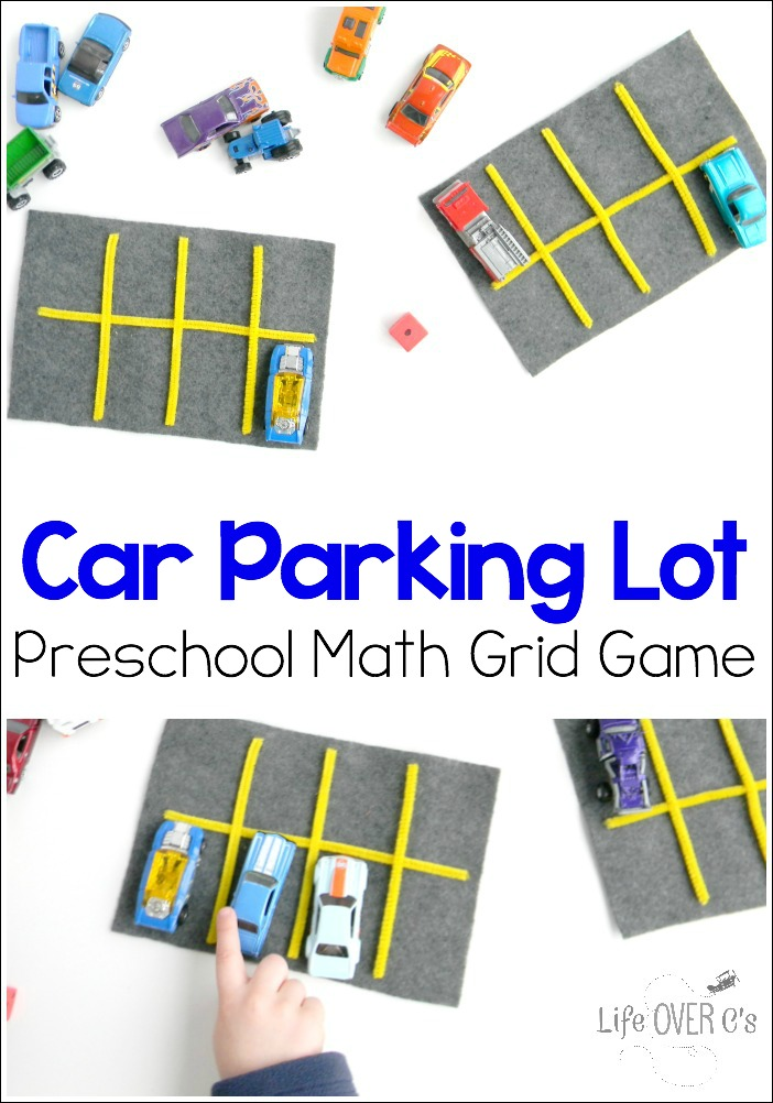This parking lot grid game is a great way for kids to practice counting while playing with cars! Plus, lots of fun ideas for learning using small toys!