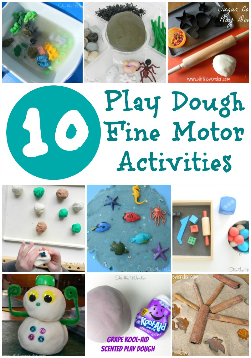 10 Play Dough Fine Motor Activities