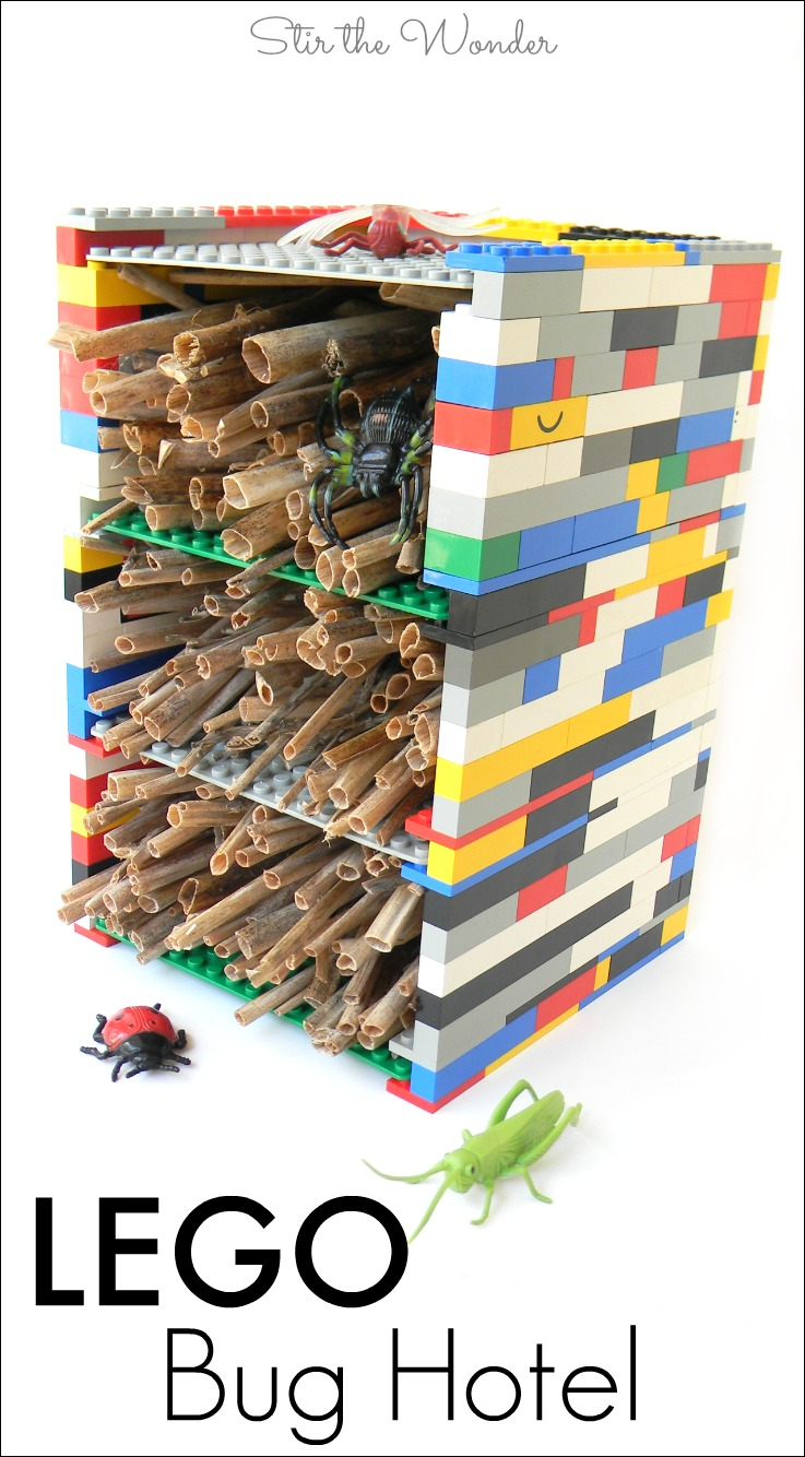The LEGO Bug Hotel is a wonderful project for LEGO fans who also love bugs!