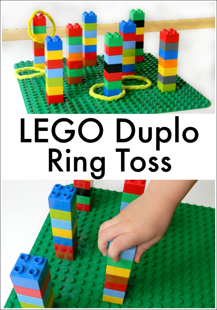 LEGO Duplo Ring Toss is a fun game for kids to build for a summer carnival or just to play any day!