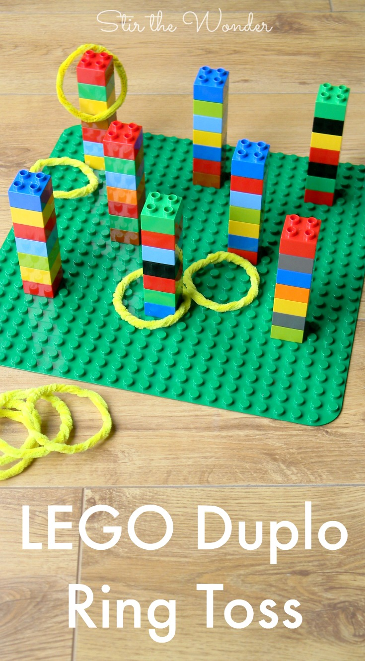 LEGO Duplo Ring Toss Game is fun for kids of all ages!