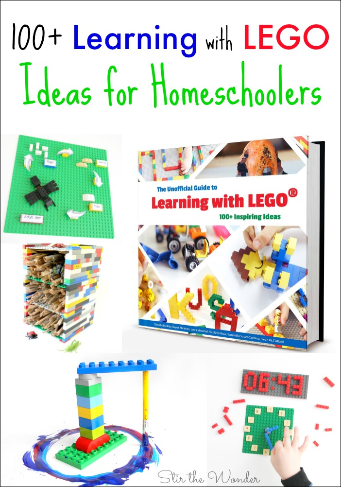 The Unofficial Guide to Learning with LEGO contains 100+ hands-on activities which are awesome for Homeschoolers!