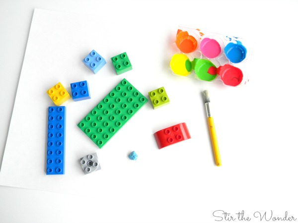 Supplies needed to build LEGO duplo paint machine