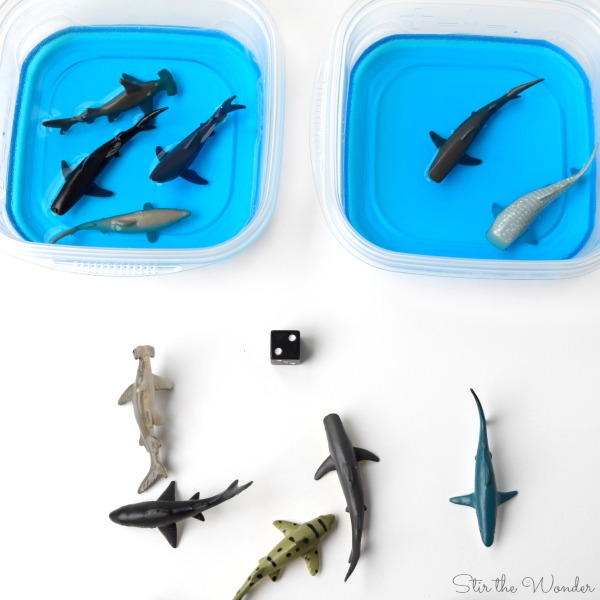 Shark Aquarium More, Less or Equal Sensory Math Game