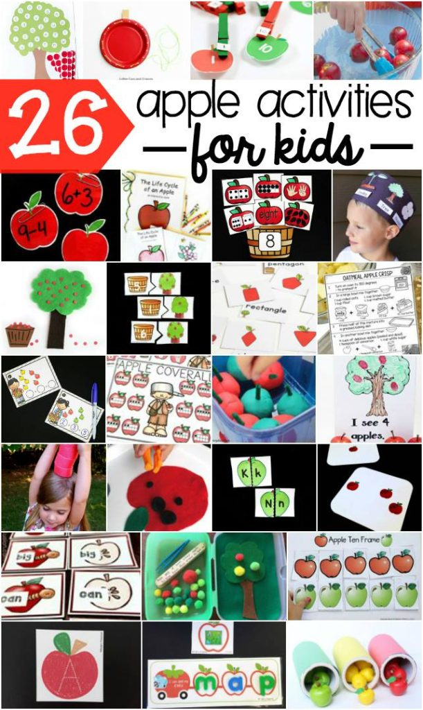 26 Apple Activities for Kids ages toddler through early elementary!