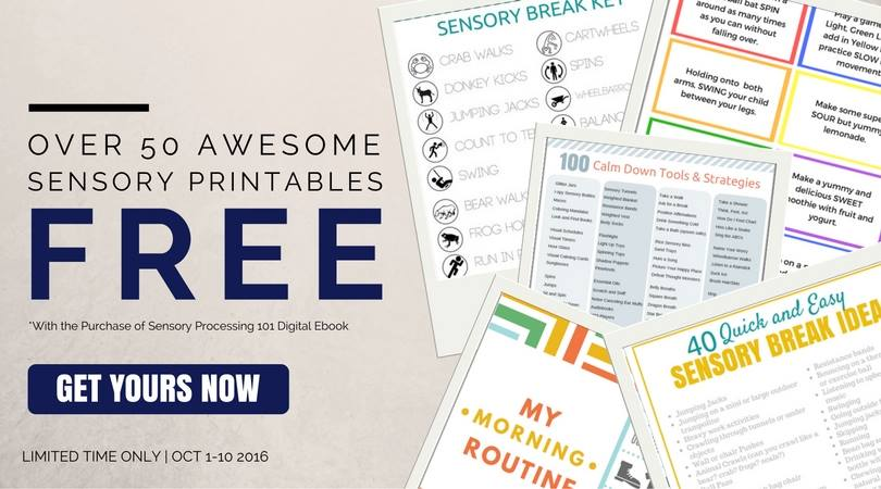 sensory processing 101 free printables limited time only!