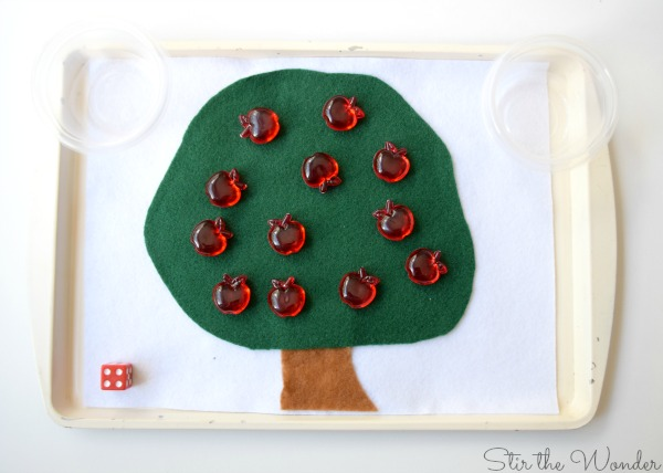 Apple Picking Math Game for Preschoolers