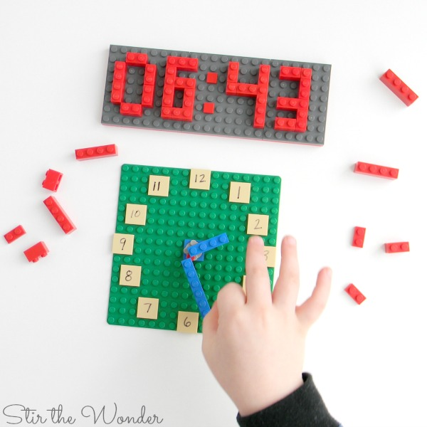 Spinning the LEGO Clock Math Manipulative