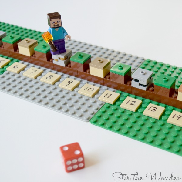 How to build LEGO Minecraft number line